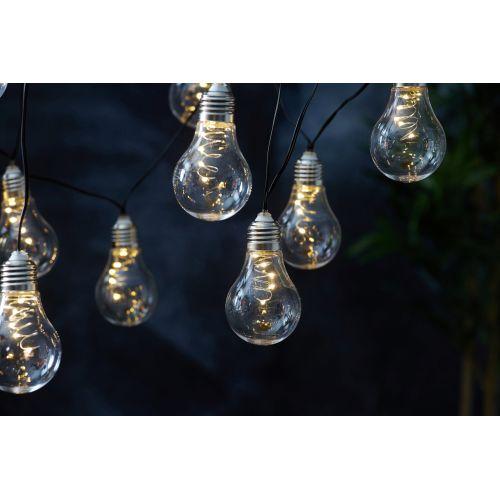 Světelný LED řetěz na solární napájení Glow