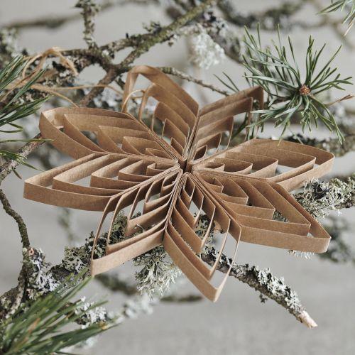 Papírová vánoční ozdoba Ouilling Natural Ø15 cm