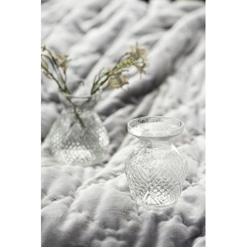 Skleněná váza Pattern Clear Wide