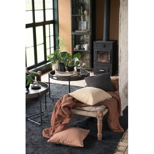 Kožený koberec Black 250x300 cm