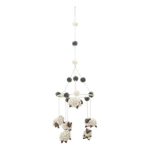 Vlněná závěsná dekorace Sheep Counting