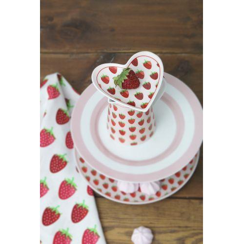 Bavlněný běhoun Strawberry White