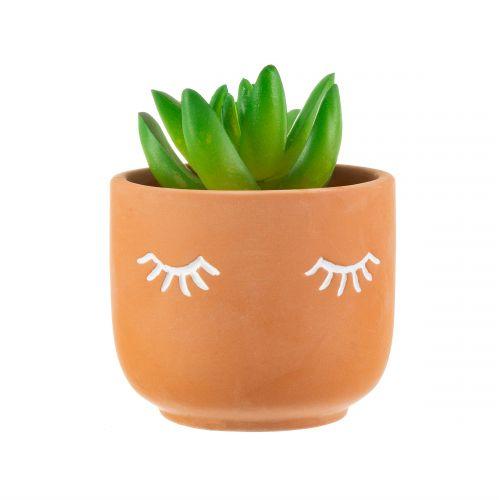 Keramický obal na květináč Mini Eyes Shut
