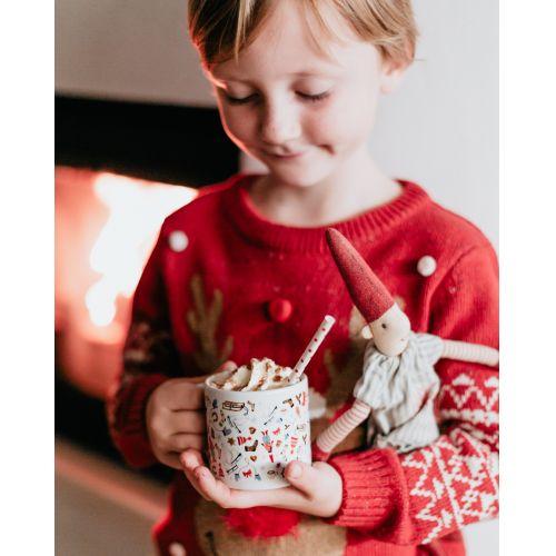 Dětský porcelánový hrneček Hurá Vánoce 200 ml
