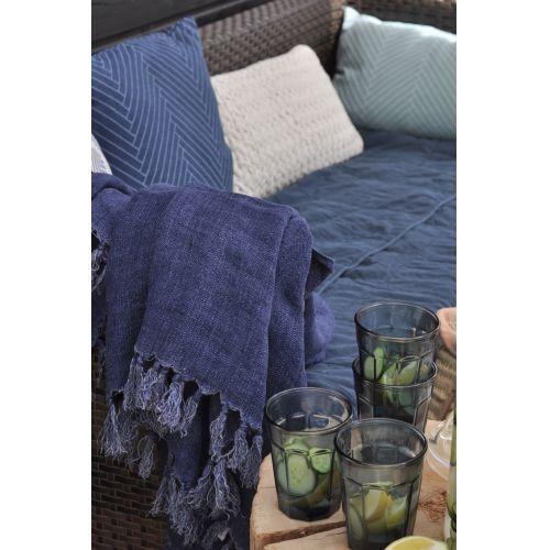 Polštář Herringbone Dark blue 50x50 cm