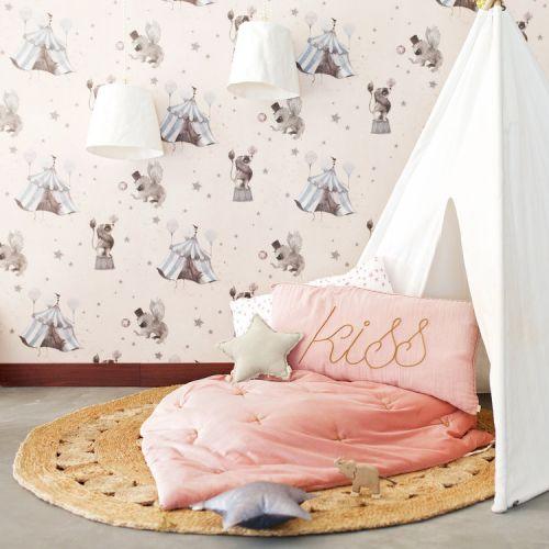 Tapeta Circus Mighetto powder pink