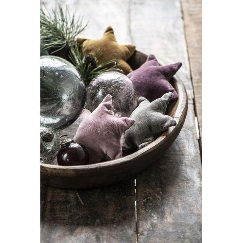 Vánoční baňka Pebbled Glass Rosa 8cm