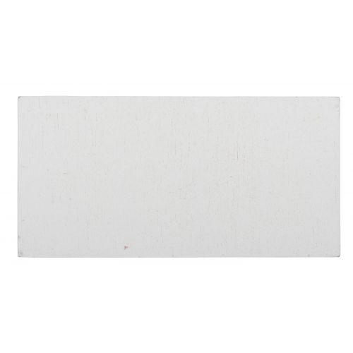 Dřevěná tabulka s kolíčkem - bílá