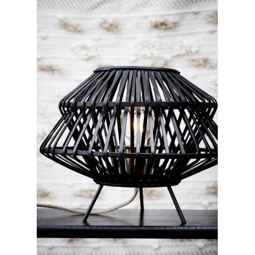Bambusové stínidlo na stolní lampu Black