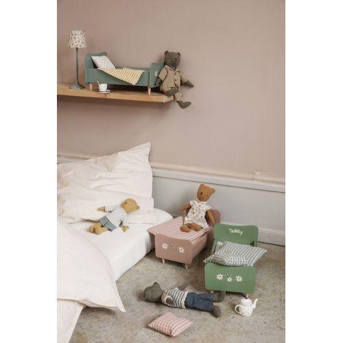Dřevěná postel pro zvířátka Maileg Rose Mini