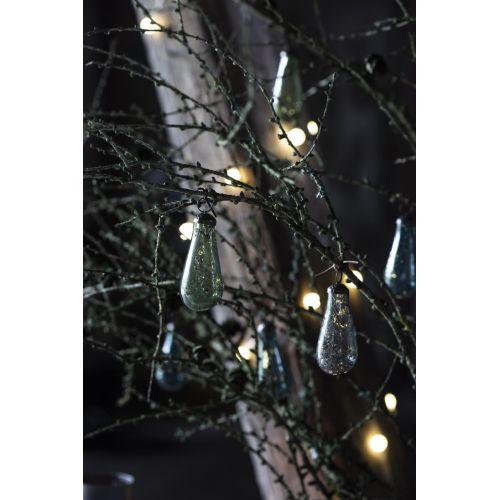 Vánoční baňka Drop Pebbled Glass Clear