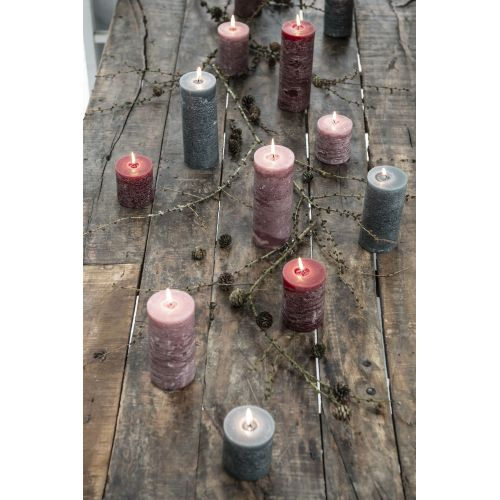 Kulatá svíčka Rustic Moss Green 10 cm