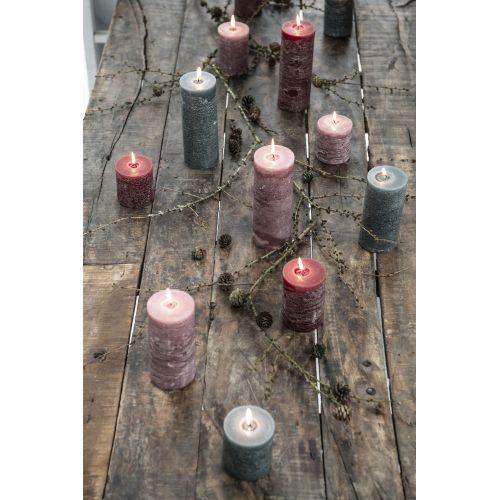 Kulatá svíčka Rustic Moss Green 14 cm