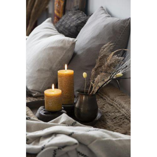 Kulatá svíčka Rustic Mustard 10 cm