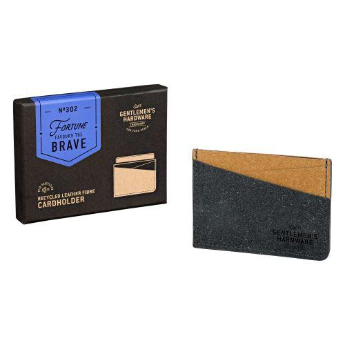 Pouzdro na platební karty Leather Black & Tan