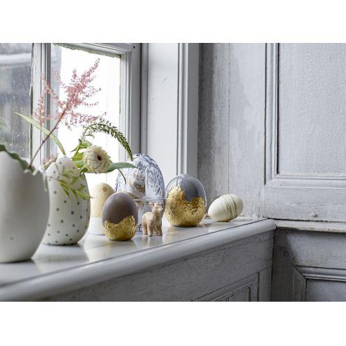 Skleněná dóza ve tvaru vejce Grey