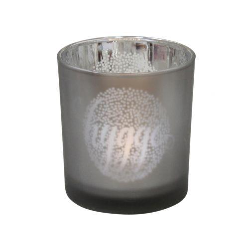 Skleněný svícen Hygge Grey