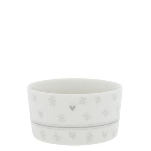 Porcelánová miska Heartflower/Stripe Grey