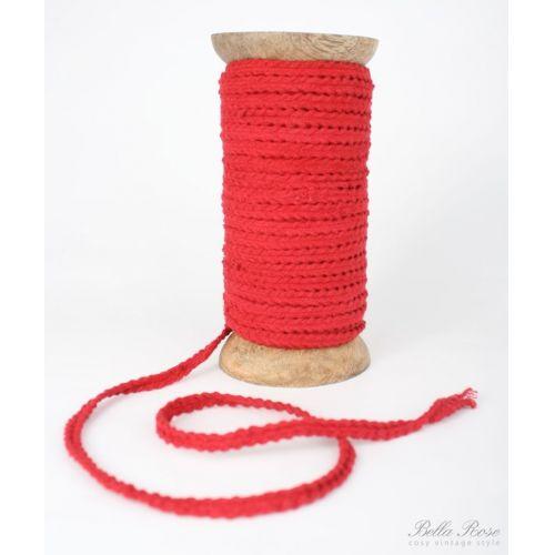 Dekorativní stuha - červená