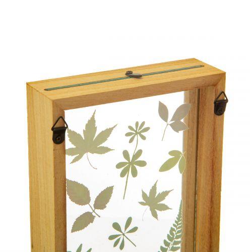 Dřevěný rámeček Herbarium Floating Leaves