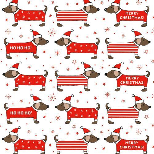 Vánoční balicí papír Christmas Dachshund 50x70