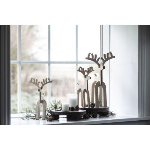 Dřevěný sob Rudolph 36cm