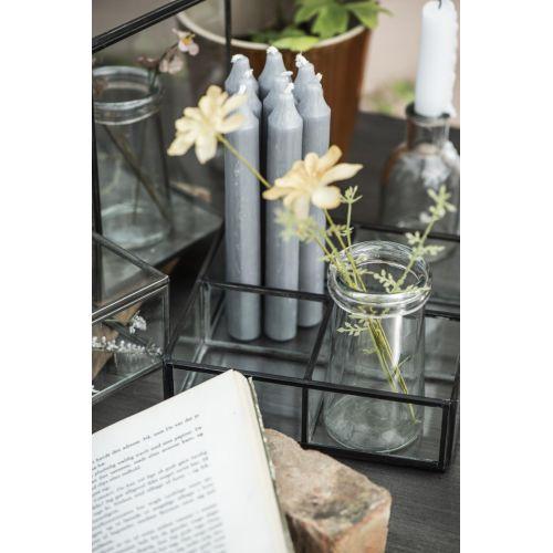 Vysoká svíčka Rustic Light Grey 18 cm