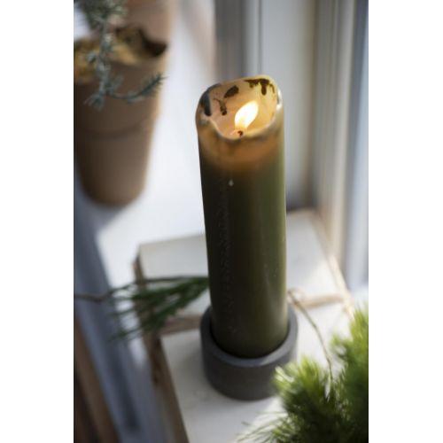 Cementový svícínek Pillar Grey