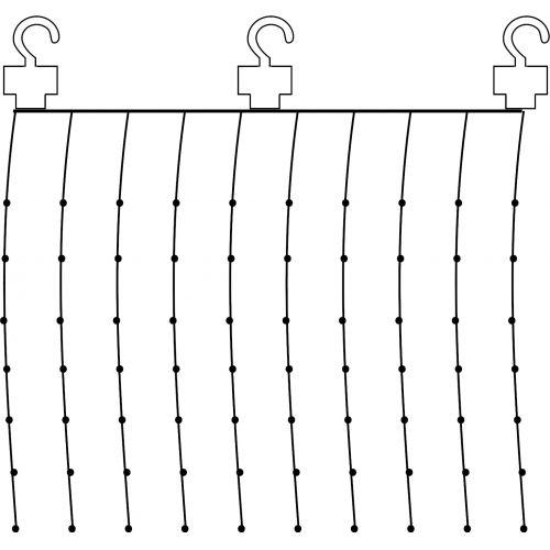 Světelný LED závěs Light Chain Dew Drop 100 x 100 cm