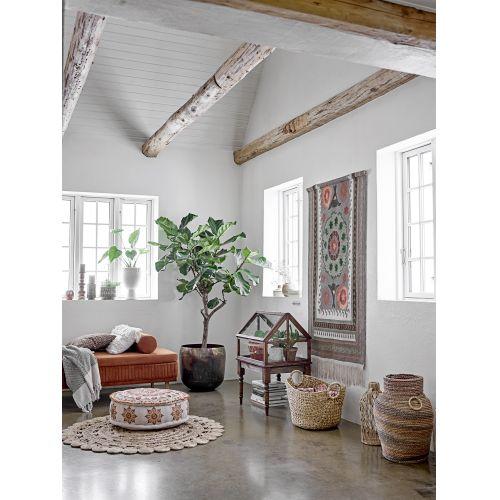 Bavlněný přehoz Recycled Cotton Red 160x130