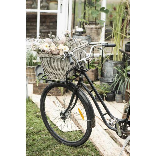 Závěsný proutěný koš na kolo