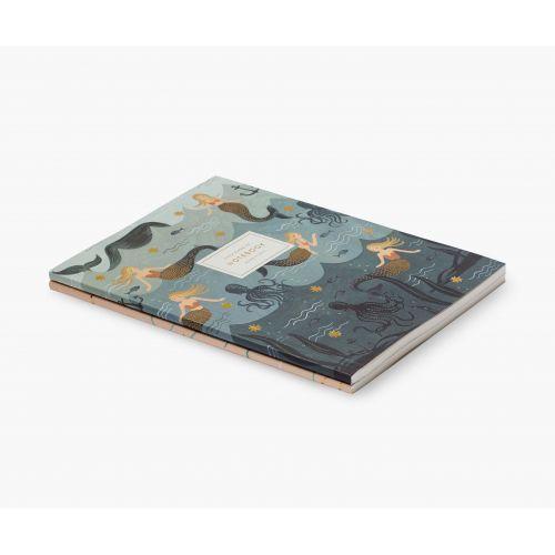 Set nelinkovaných notesů Vintage Mermaid - 2ks
