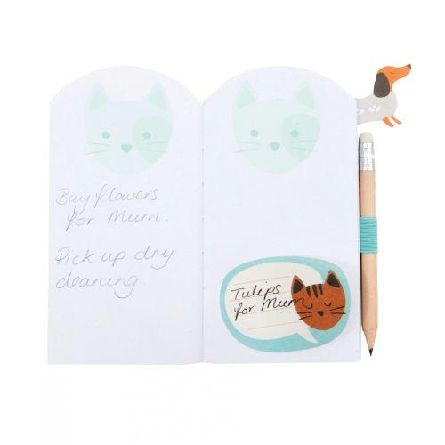 Poznámkový bloček s tužkou Cat Cute