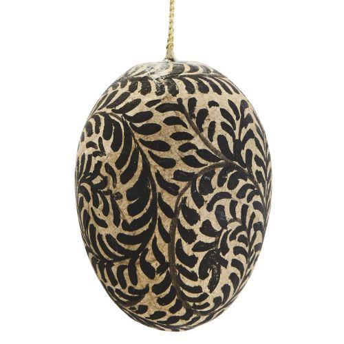 Dekorativní vajíčko Mache Egg Black