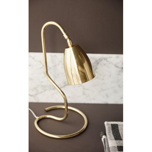 Mosazná stolní lampa