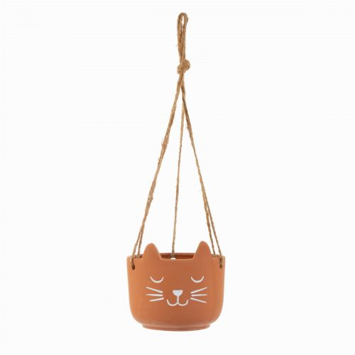 Závěsný terakotový obal na květináč Cat's Whiskers
