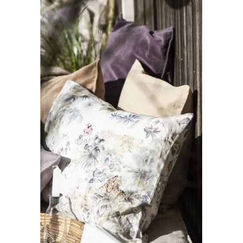 Lněný povlak na polštář Flowers 50x70cm