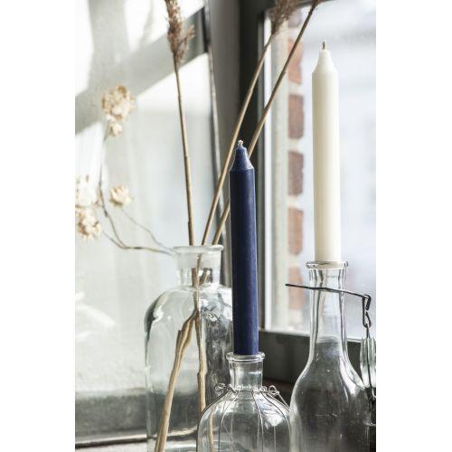 Vysoká svíčka Rustic Navy Blue 18cm
