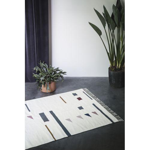 Vlněný koberec Kelim Triangles L