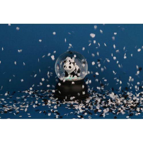 Svítící sněhová koule - Panda family
