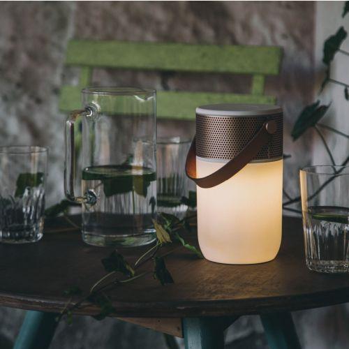 Svítící bluetooth reproduktor aGLOW White/Rose gold