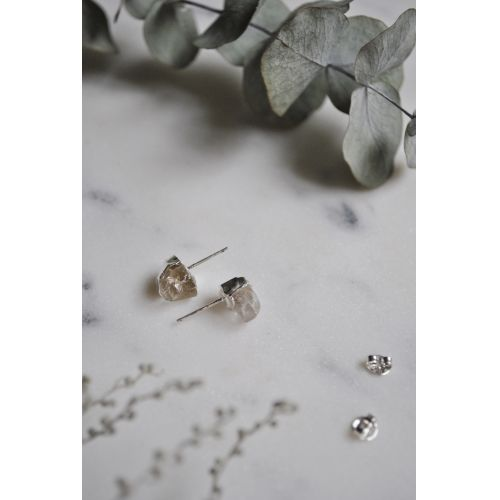 Náušnice Mini Clear Quartz/Silver