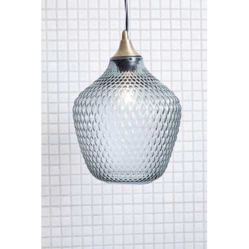 Závěsná lampa Brass/Blue