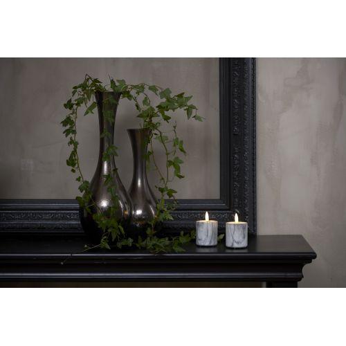 Svíčka LED Flamme Marble Grey