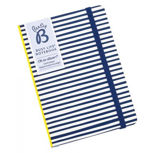 Pruhovaný zápisník Yellow & Blue Stripes