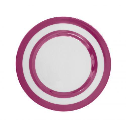Dezertní talíř Plum Stripes