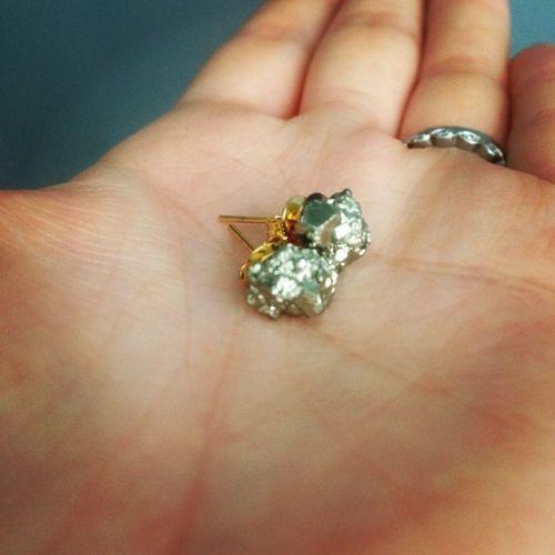 Náušnice Cluster Pyrite