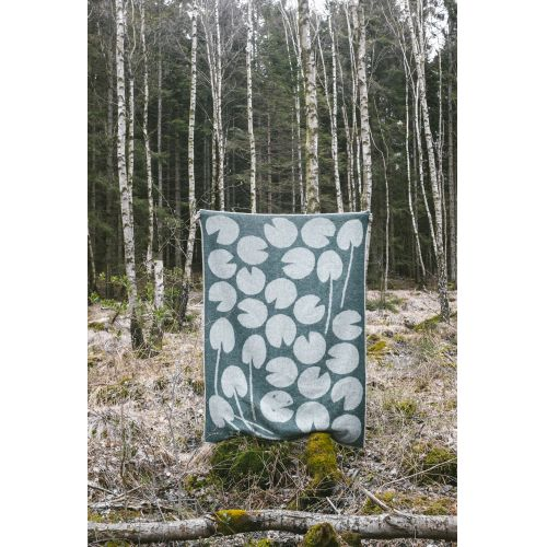 Vlněná deka Water lilies Green 130x190 cm