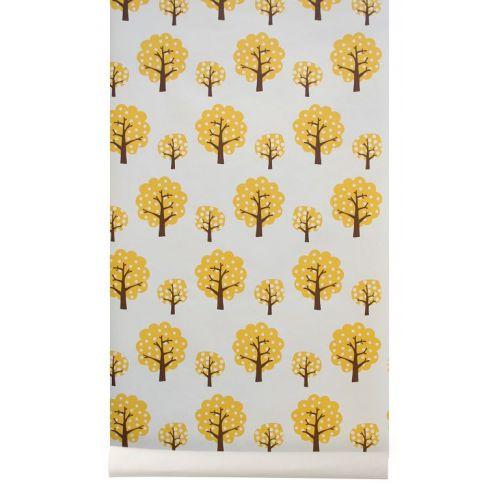 Papírová tapeta Yellow Tree
