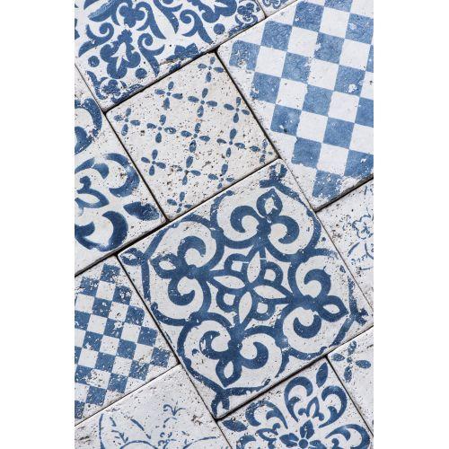 Mini keramická kachlička Marrakech Blue